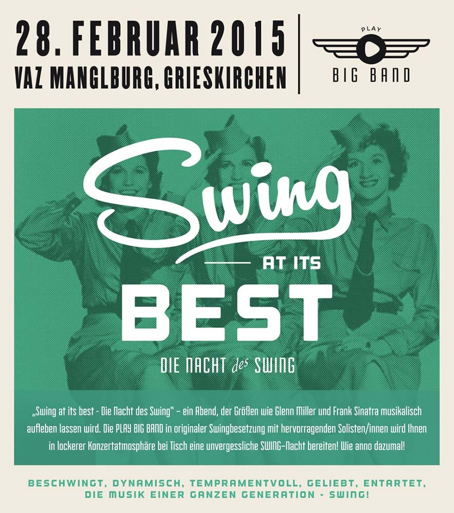 Swing at its best 2015 | Plakat